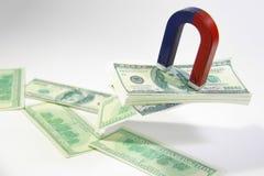 Atracción del dinero imagen de archivo libre de regalías