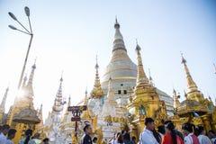 Atracción del viaje de Pagonda Myanmar Imagenes de archivo