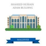 Atracción plana del vector de Shaheed Hussain Adam Building Maldives Foto de archivo