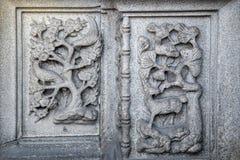 Atracción turística famosa del ` s de Guangzhou, China, el pasillo ancestral de Chen, una casa con una característica arquitectón Foto de archivo libre de regalías