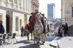 Atracción turística en Zagreb, Croacia Foto de archivo