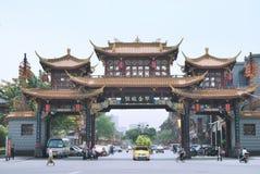 Atracciones de Chengdu, China Foto de archivo