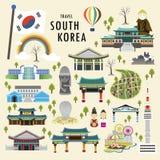 Atracciones de la Corea del Sur stock de ilustración