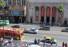Atracciones de la película de Hollywood para los turistas en Hollywood Boulevard Imágenes de archivo libres de regalías