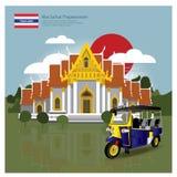 Atracciones de la señal y del viaje de Tailandia Fotografía de archivo