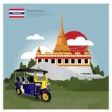 Atracciones de la señal y del viaje de Tailandia Imagenes de archivo