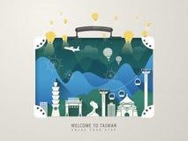 Atracciones de Taiwán libre illustration