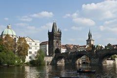 Atracciones de Vltava Imagenes de archivo