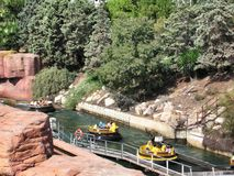 Atracciones del agua en el puerto Aventura España del parque fotos de archivo libres de regalías