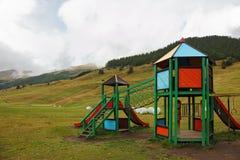 Atracciones del parque para los niños Imagen de archivo