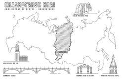 Atracciones principales de Krasnoyarsk libre illustration