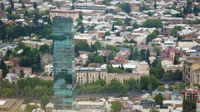 Atracciones turísticas famosas en Tbilisi, guía a la capital de Georgia, secuencia almacen de video