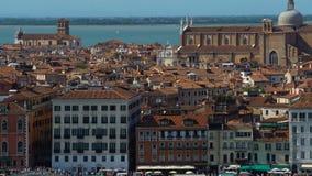 Atracciones turísticas y vieja arquitectura en Venecia, visión panorámica, turismo almacen de video