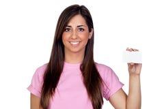 atractive κενό κορίτσι καρτών Στοκ φωτογραφία με δικαίωμα ελεύθερης χρήσης