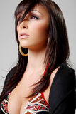 Atractive brunette, portrait 2 Stock Photo