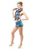 Atractive girl posing stock photos