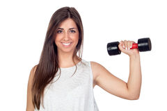 Atractive girl training in the gym Stock Image