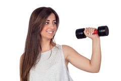 Atractive girl training in the gym Royalty Free Stock Photos