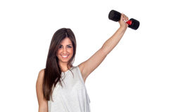 Atractive girl training in the gym Royalty Free Stock Photo