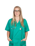 Atractive medical girl with glasses Royalty Free Stock Images