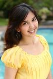 Atractive Multiracial  Girl at swimming pool Stock Images