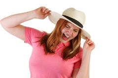 Atractive woman with hat Royalty Free Stock Image