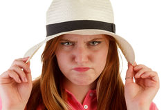 Atractive woman with hat Royalty Free Stock Photo