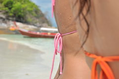 Atractivo en la playa imágenes de archivo libres de regalías