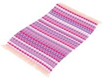 Atractivo púrpura rosado magenta de la alfombra de vuelo de la manta de trapo Foto de archivo