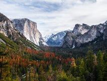 Atrakci turystycznej miejsce w Yosemite Fotografia Stock