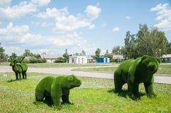 Atrakcja turystyczna w mieście Sztuki współczesnej rzeźba zdjęcia stock
