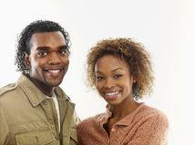 atrakcyjną parą uśmiechnięci young Zdjęcia Royalty Free