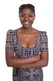 Atrakcyjna afrykańska kobieta z tradycyjnym odziewa Zdjęcie Royalty Free
