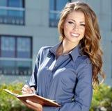 Atrakcyjna agent nieruchomości kobieta Obraz Royalty Free