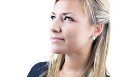 Atrakcyjna blond biznesowa kobieta na studiu Zdjęcie Royalty Free