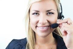 Atrakcyjna blond biznesowa kobieta na studiu Zdjęcia Stock