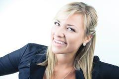 Atrakcyjna blond biznesowa kobieta na studiu Obraz Royalty Free