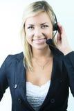 Atrakcyjna blond biznesowa kobieta na studiu Obraz Stock