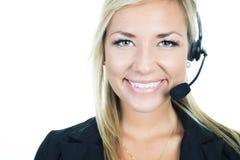 Atrakcyjna blond biznesowa kobieta na studiu Fotografia Royalty Free