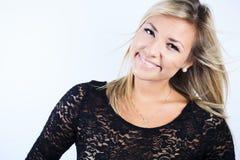 Atrakcyjna blond kobieta na studiu Obraz Stock