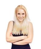 Atrakcyjna blondynki kobieta W studiu Obraz Royalty Free