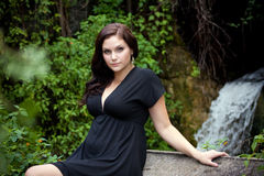 atrakcyjna brunetka Zdjęcia Royalty Free