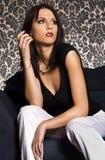 atrakcyjna brunetka Obrazy Royalty Free