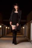 atrakcyjna brunetki caucasian kobieta Obrazy Royalty Free