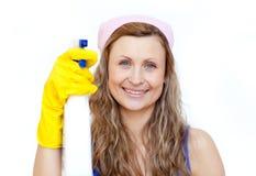 atrakcyjna detergentowa mienia kiści kobieta Zdjęcia Royalty Free