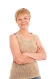 atrakcyjna dojrzała uśmiechnięta kobieta fotografia stock