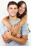 Atrakcyjna dziewczyna i jej chłopak Obraz Stock