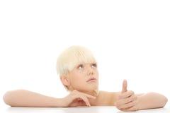 atrakcyjna dziewczyna robi portretowi atrakcyjny Fotografia Stock