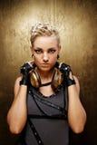 atrakcyjna dziewczyny portreta ruch punków kontrpara Fotografia Stock