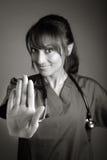 Atrakcyjna indianin lekarki kobieta pozuje w studiu Zdjęcia Stock